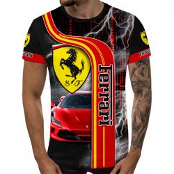 3D мъжка тениска принт FERRARI