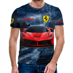 3D мъжка тениска Ferrari