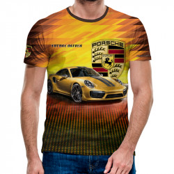 3D мъжка тениска Porsche