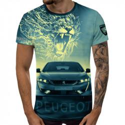 3D мъжка тениска Peugeot Lion