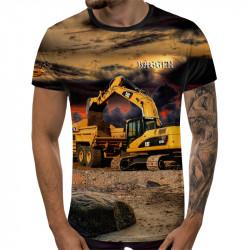3D мъжка тениска Багер