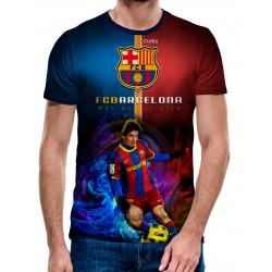 3D мъжка тениска Barca - Messi