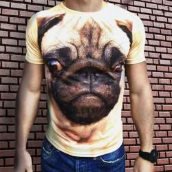 3D  мъжка тениска Мопс