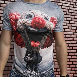 3D  мъжка тениска Clown
