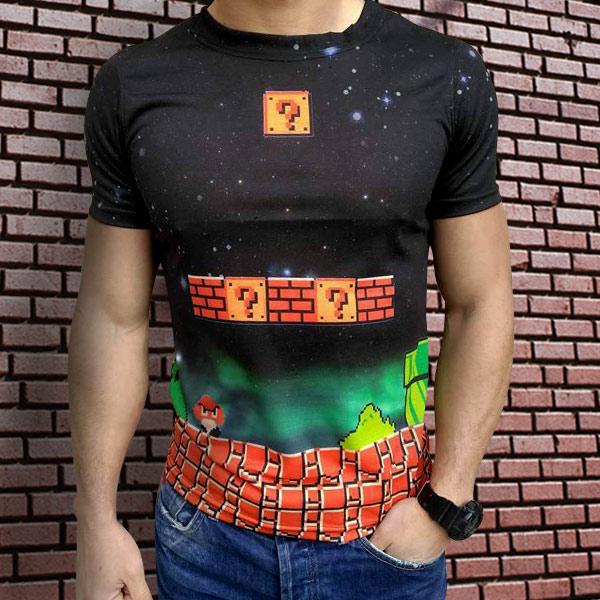 3D  мъжка тениска Mario