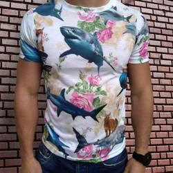 3D  мъжка тениска Shark