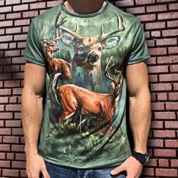 3D Ловна мъжка тениска с Елени