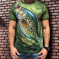 3D мъжка тениска Fish