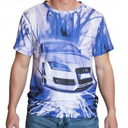 3D мъжка тениска Ауди