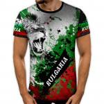 3D мъжка тениска принт LION 8264