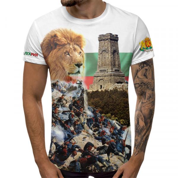 3D мъжка тениска Шипка