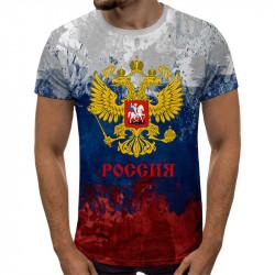 3D мъжка тениска принт РОССИЯ