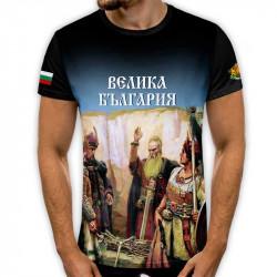 3D мъжка тениска принт национална Велика България