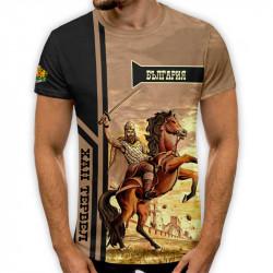 3D мъжка тениска принт национална Хан Тервел