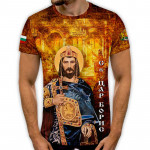 3D мъжка тениска принт национална Св.Цар Борис