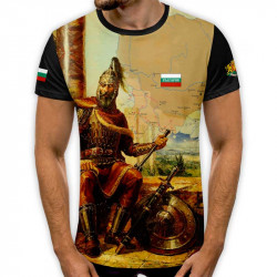 3D мъжка тениска принт национална 8025