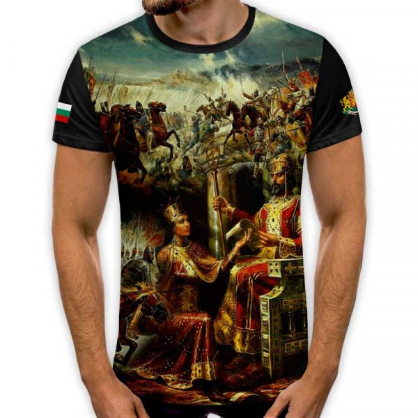 3D мъжка тениска принт национална България