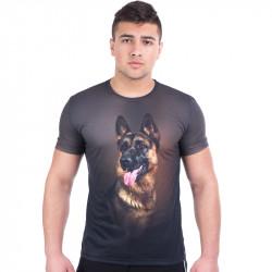 3D мъжка тениска DOG