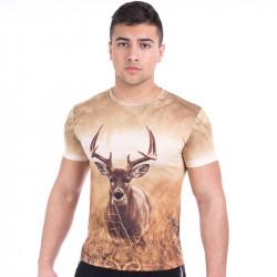 3D мъжка тениска DEER