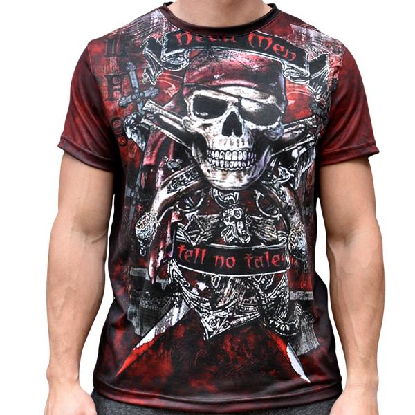 3D  мъжка тениска Dead men