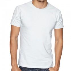 Изчистена бяла мъжка тениска