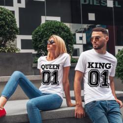 Комплект тениски за влюбени двойки Number One