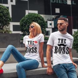 Комплект тениски за влюбени двойки The Boss