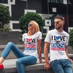 Комплект тениски за влюбени двойки Crazy