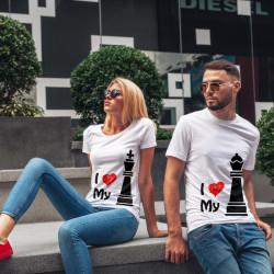 Комплект тениски за влюбени двойки Цар и Царица