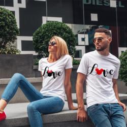Комплект тениски за влюбени двойки AMORE