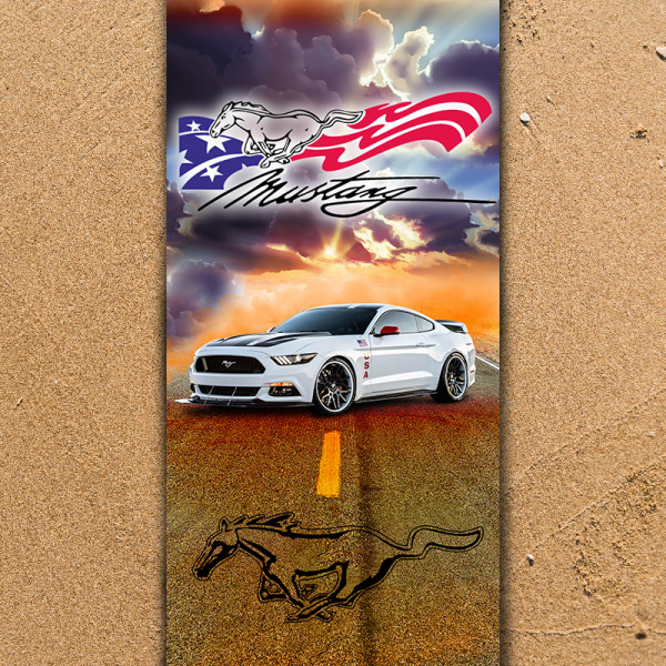 Плажна хавлиена кърпа Mustang