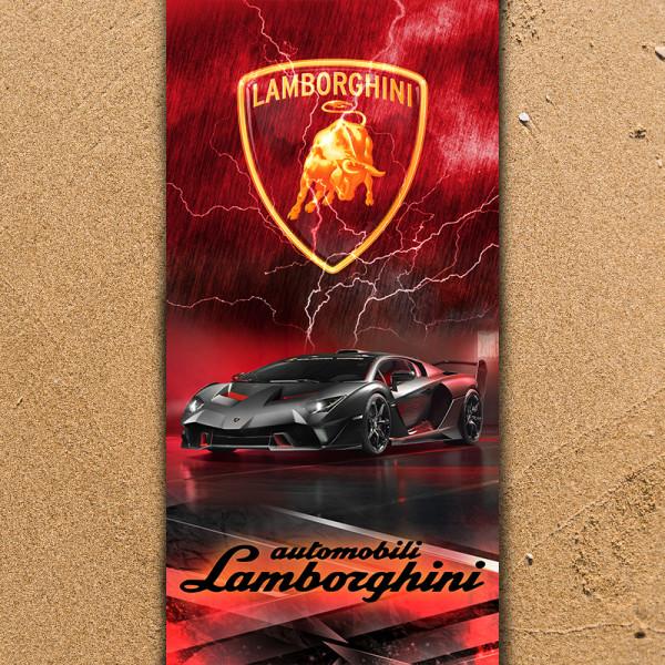 Плажна хавлиена кърпа Lamborgini