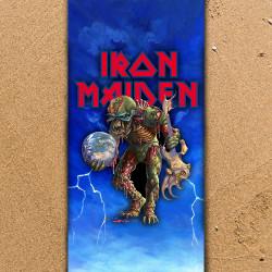 Плажна хавлиена кърпа Iron Maiden Zombie