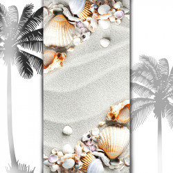 Плажна хавлиена кърпа с мидички