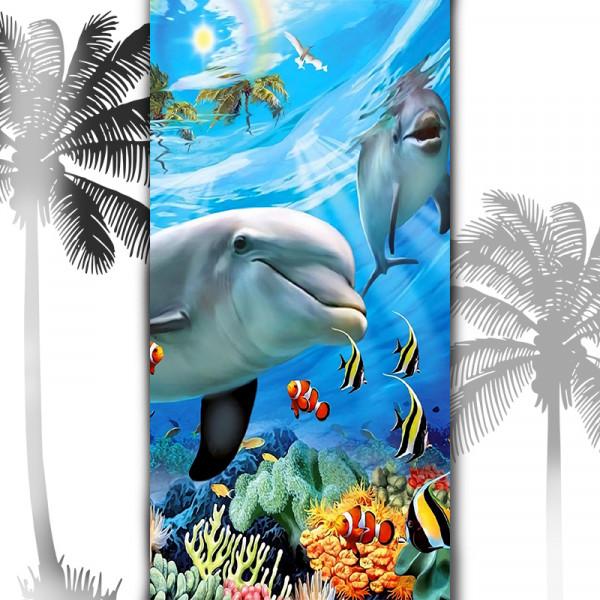 Плажна хавлиена кърпа Делфини