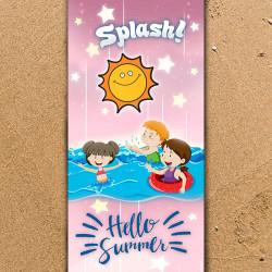"""Плажна хавлиена кърпа  """"Splashi"""""""
