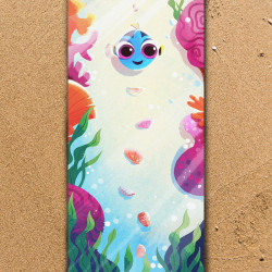 """Плажна хавлиена кърпа  """"Морско дъно"""""""