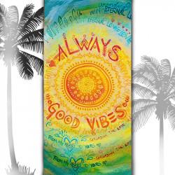 Плажна хавлиена кърпа  Good vibes