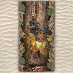 Плажна хавлиена кърпа Boar Hunter