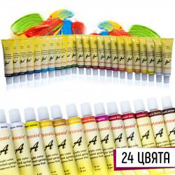 Комплект 24 цвята акрилни бои за декорация на маникюр и педикюр