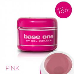 Изграждащ uv гел Base One Pink розов 15гр