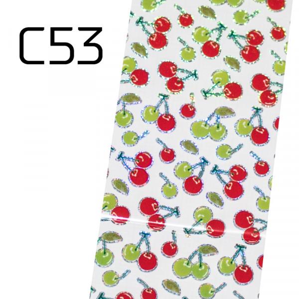Широко декоративно фолио за нокти C53
