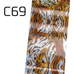 Широко декоративно фолио за нокти C69