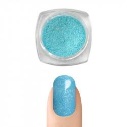 Пигментна пудра Русалка ефект за декорация на нокти (Светло син)