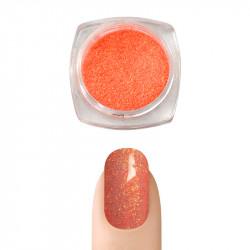 Пигментна пудра Русалка ефект за декорация на нокти (Оранжев)