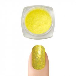 Пигментна пудра Русалка ефект за декорация на нокти (Жълт)