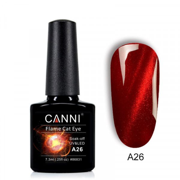 Canni Uv / Led гел лак за нокти FLAME CAT EYE A 26