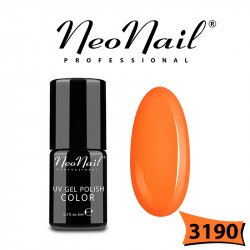 Lakier Hybrydowy Neo nail uv/led гел лак за нокти Neon orange 3190