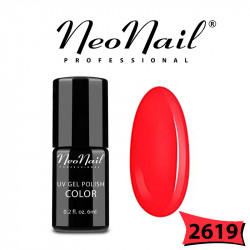 Lakier Hybrydowy Neo nail uv/led гел лак за нокти Coral red  2619