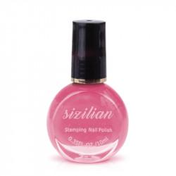 10мл специална лак - боя за декорация на нокти и печати - Розов цвят